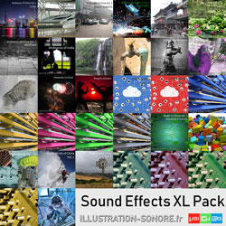 Synthesizer FX Vol. 3 contenu : 13 volumes, more than 22 hours of real and synthetic sound effects