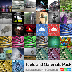 Tools and industries contenu : 6 volumes, 8 hours of sounds of materials and equipment